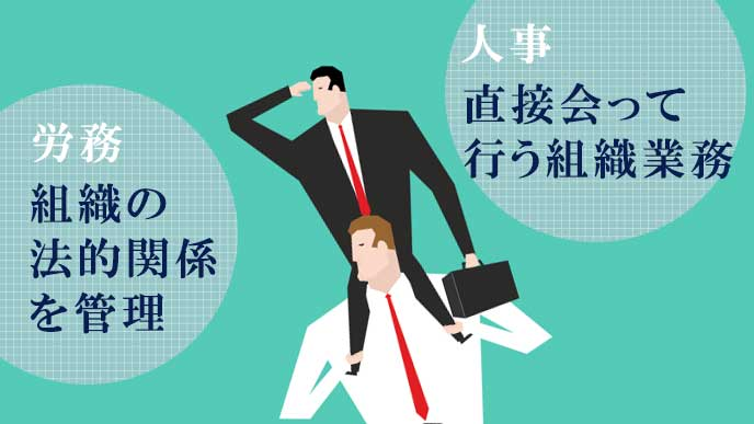 労務と人事の仕事内容を比較