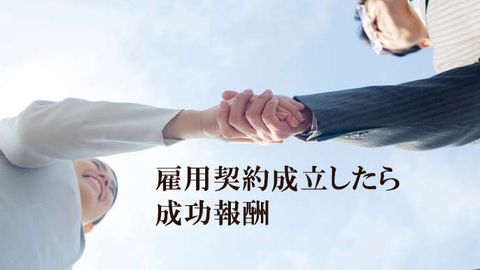 握手するOLと人事担当者