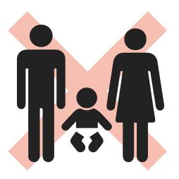 親子をイメージしたピクトグラム