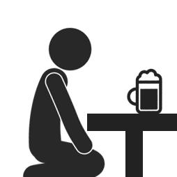 飲み会で我慢して正座する人のイメージ