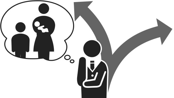 家族に相談するイメージ