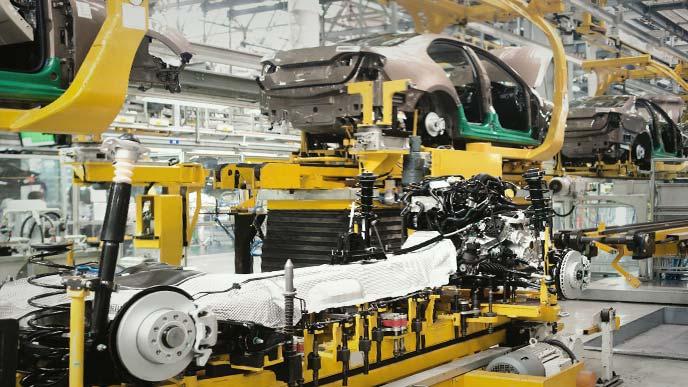最新の自動車工場
