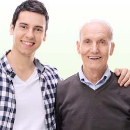 父親と弟のイメージ