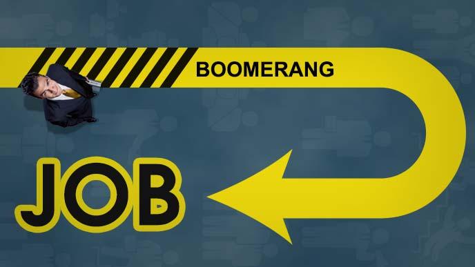 出戻り転職(ブーメランジョブ-Boomerang Job)のイメージ