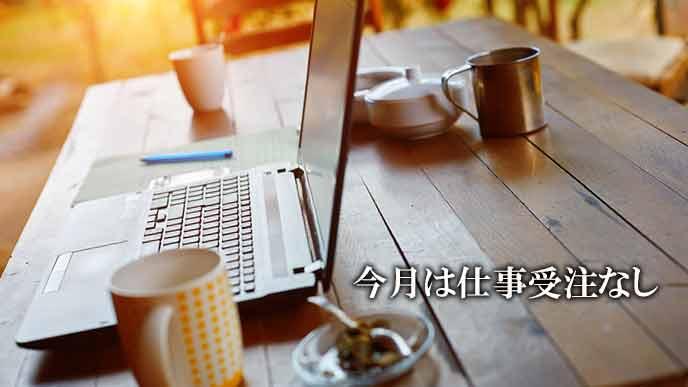 机の上で開いたままのラップトップ