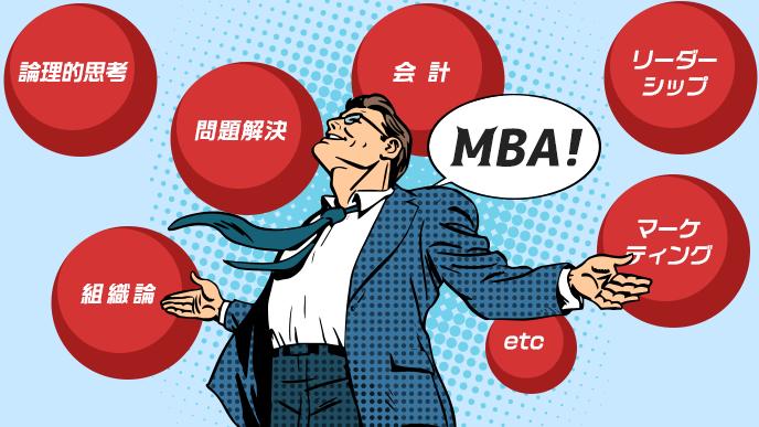 MBAで学ぶ事柄のイラスト