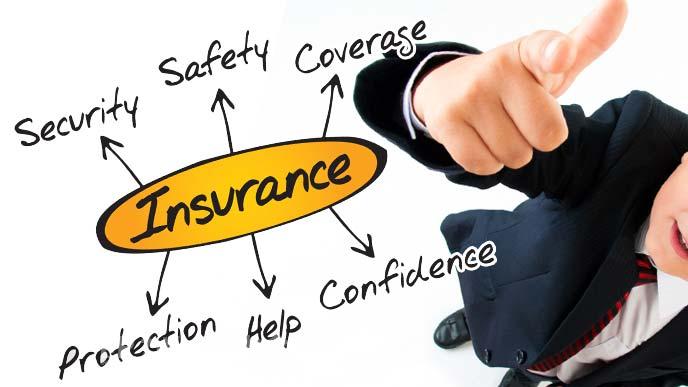 保険についてビジョンを描く男性のイメージ