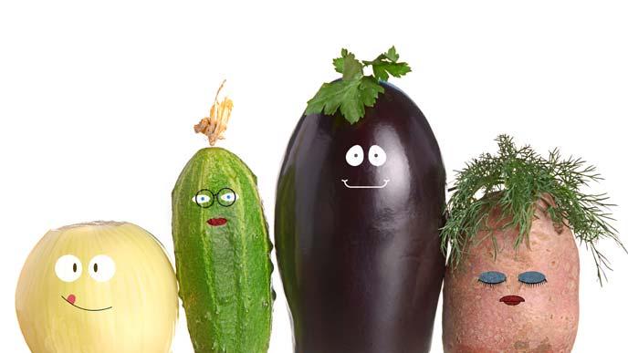 野菜の家族写真