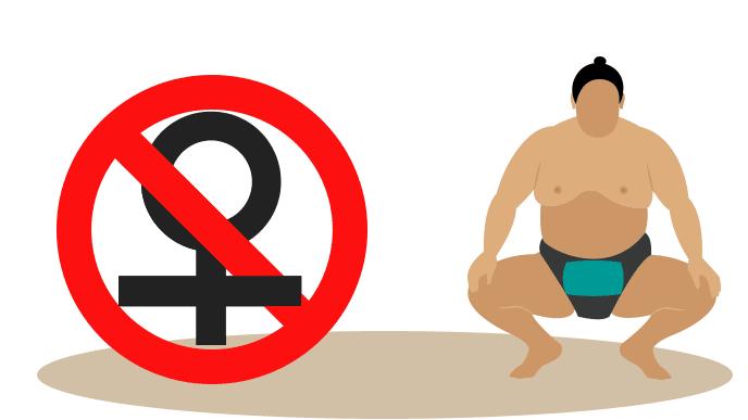 女性は立ち入り禁止の土俵