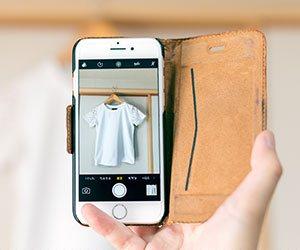 携帯でメルカリで売る商品の写真を撮る