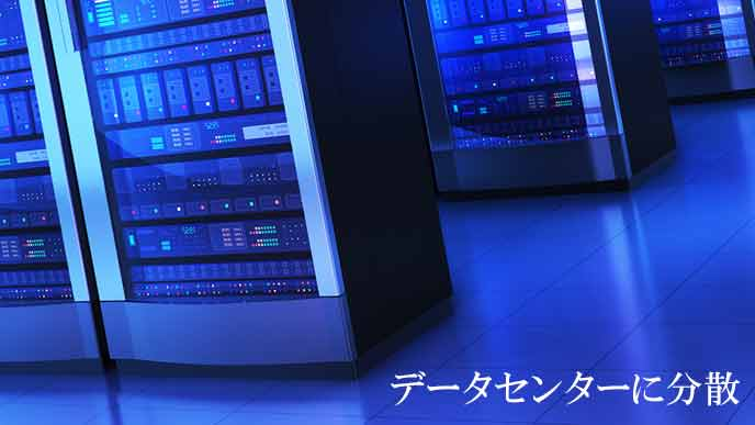 データセンターに並ぶサーバー