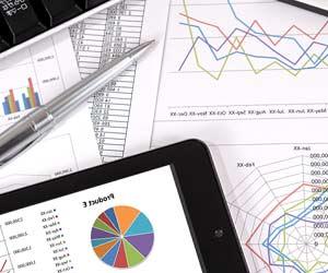 ビジネス文書のグラフと数字
