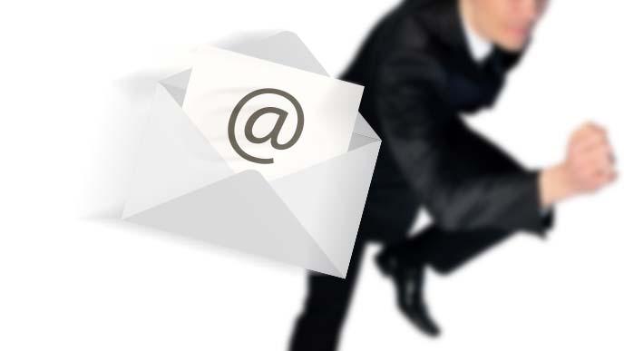 メールで取り急ぎのイメージ