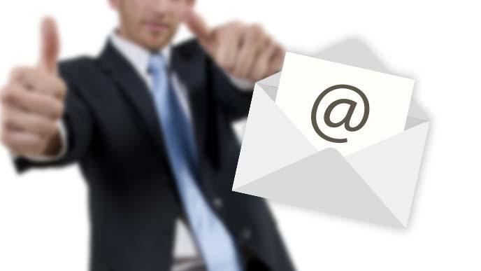メールで挨拶のイメージ