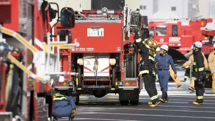 消防士の訓練の様子