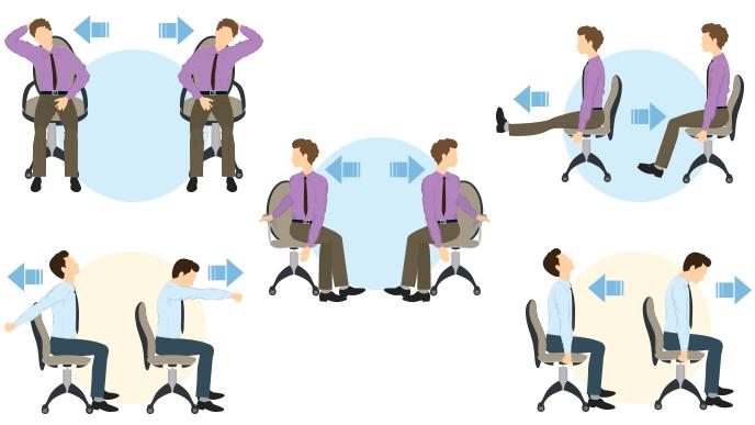 座ったままのストレッチ運動