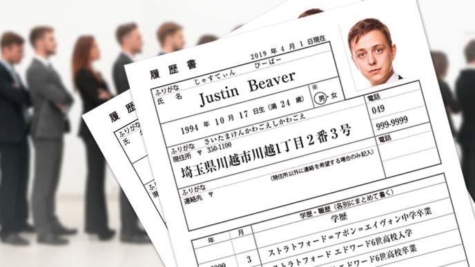 外国人の履歴書