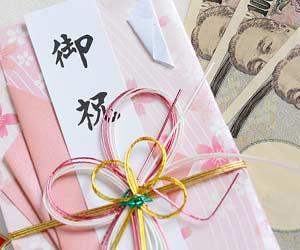 のし袋と紙幣