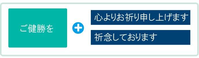 文書などの結びで「ご健勝」を用いる場合の例文